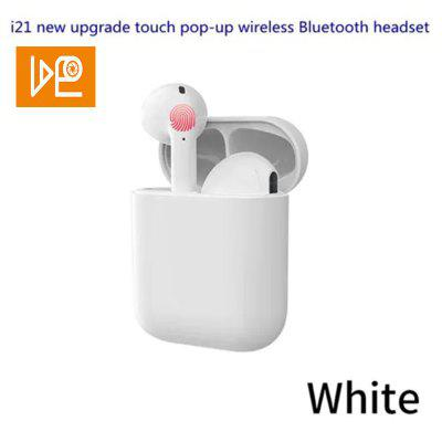VDEO i21 tws Bluetooth 5.0 touch pop-up wireless sports headset i20 upgrade - White