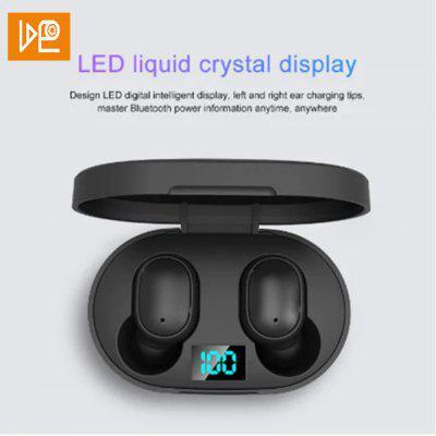 VDEO original new E6S digital display 3D stereo mini Bluetooth 5.0 headset with dual microphone