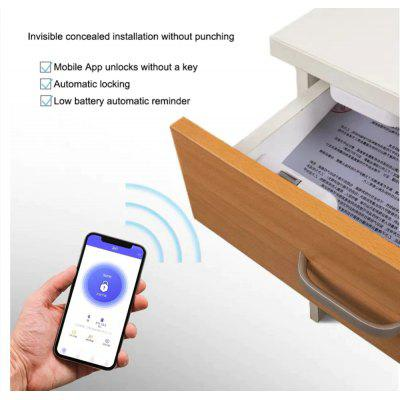MI Remote stealth smart APP office security drawer lock home wireless closet smart lock - White