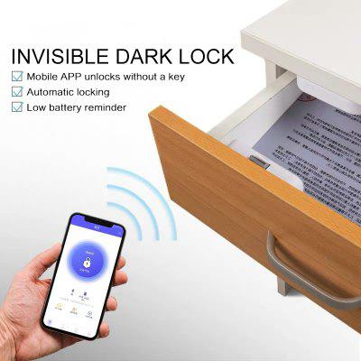 Remote invisible Smart APP office Security Drawer Lock Home anti-theft Wireless wardrobe Smart Lock