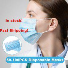 Fast Shipping 50-100PCS Medical Masks Disposable Medical Sanitary Surgical Face Masks