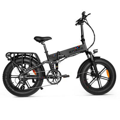 ENGWE ENGINE PRO 750W Folding Fat Tire Electric Bike with 12.8Ah Battery and Hydraulic Suspension