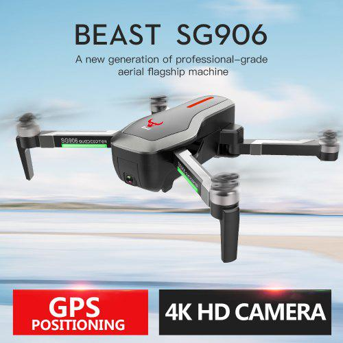 Beast SG906 Brushless Foldable GPS WIFI FPV RC Quadcopter with 4K Ultra HD Camera Drone