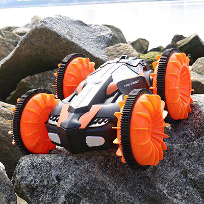 LHC013 2.4GHz Four Drive Force Waterproof Protection Double Side Amphibious RC Stunt Car