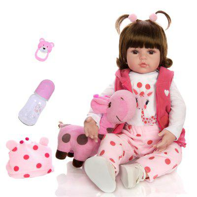 KEIUMI 18 Inch Reborn Baby Doll Toy Silicone Newborn Dolls Birthday Christmas Toy Gift for Children