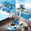 Global Drone GW123 Sea Land Air 3 in 1 RC Drone Quadcopter Remote Control Boat Toys