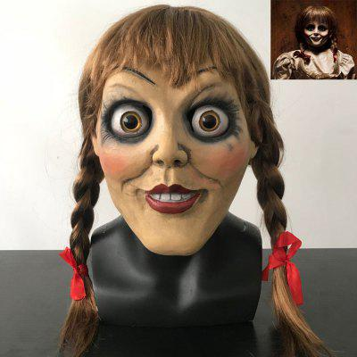 Halloween Mask Baby Bisque Doll Terror Haunted House Latex Party Masks Gift Girls Women Men Carnival Cosplay Props Headgear Toys