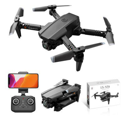 LSRC LS-XT6 Mini Foldable WiFi FPV RC Drone with 4K/1080P HD Dual Camera 12mins Flying Time Helicopters Quadcopter RTF