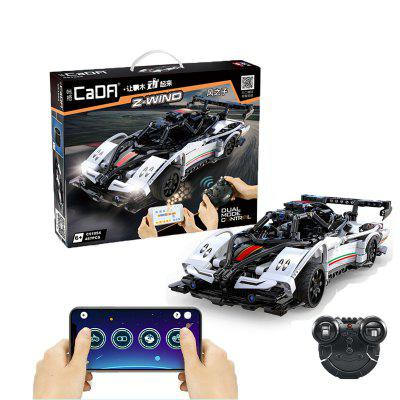 CaDA C51054 Remote Control Racing Car Building Blocks RC Sports Vehicle Double Remote Control 2.4Ghz Model Bricks Toys for Children Boys