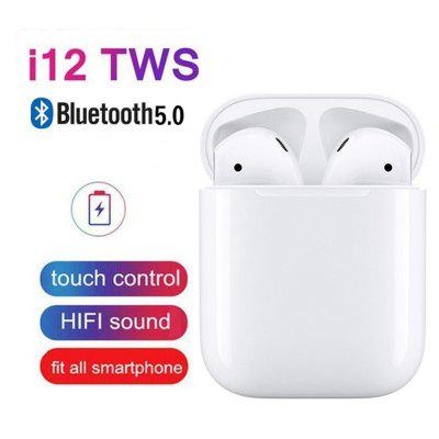 i12 tws Touch Control Wireless Bluetooth 5.0 Earphones 3D Super Bass Headphones