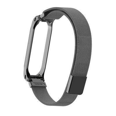 Smart bracelet mesh metal magnetic strap for Xiaomi Mi Band 4