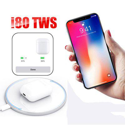 i80 TWS Wireless Bluetooth Headset with Charging Box Supports Wireless Charging