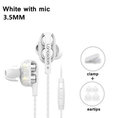 Langsdom D4C Earphone  with Mic 3.5mm Hifi Earphones Headset