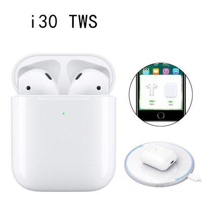 I30 TWS Wireless Bluetooth Headset with Charging Box Supports Wireless Charging