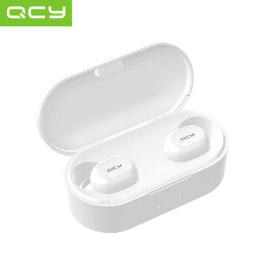 QCY QS2 T2C TWS True Wireless Bluetooth Headsets 3D Stereo Sound Earbuds Charging box