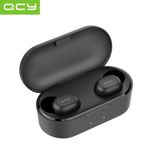 QCY QS2 T2C TWS True Wireless Bluetooth Headsets 3D Stereo Sound Earbuds Charging box - Black China