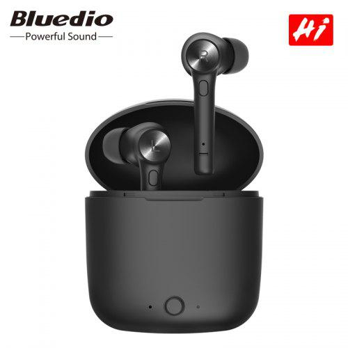Bluedio Hi TWS wireless bluetooth earphone for phone stereo sport earbuds headset with charging box