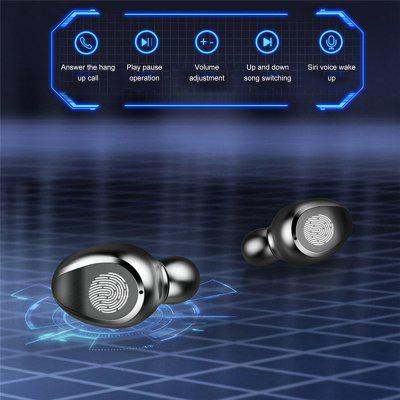 F9-5 Wireless LED Display Bluetooth Headphones at with 2000mAh Charging Case That Enables You to Listen for 120 Hours!