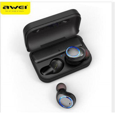 Awei T3 TWS Binaural Bluetooth Earphones Wireless In-Ear Stereo Earbuds With Charging Dock