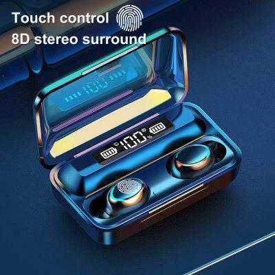 F9-5c Earpiece Stero Sound 2000mah Power Bank Wireless Headsets Sport with Microphone