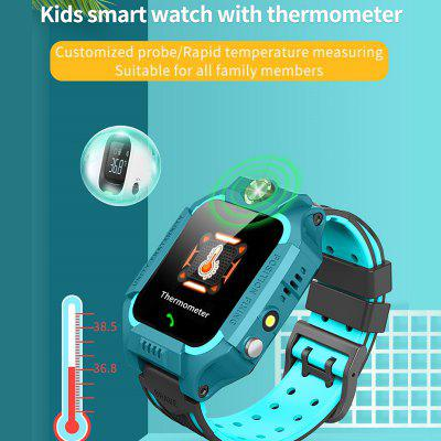 W02 Children Smart Watch SOS Phone Watch GPS Smartwatch For Kids With Thermometer Waterproof