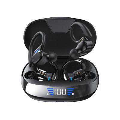 Wireless Bluetooth Earphones Touch Control LED Power Display Earbud Music Headset
