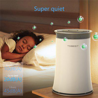 Tdbest   TDBEST Air Purifier Smoke Odor Dust Remove HEPA Filter Air Cleaner