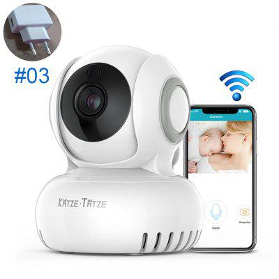720P HD IP Camera with Two-way Audio Night Vision Security Detection