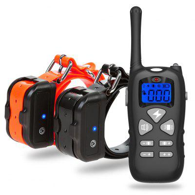 P12 1 to 2 Bark-stop Collars 500m Remote Control Electric Shock Dog Trainer