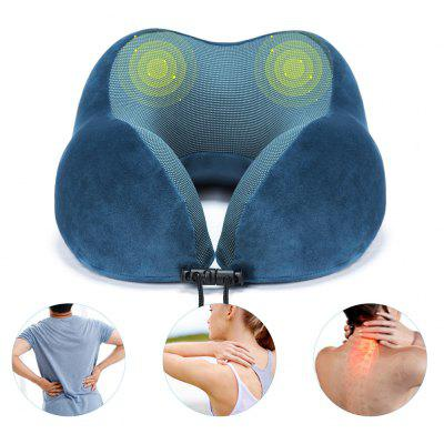 HOMIEE Memory Foam Neck Pillow Ventilated U Shape Travel Support Head Home Sleep