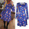 High Quality Models Christmas Snowman Snowflake Printed Long Sleeve Dress