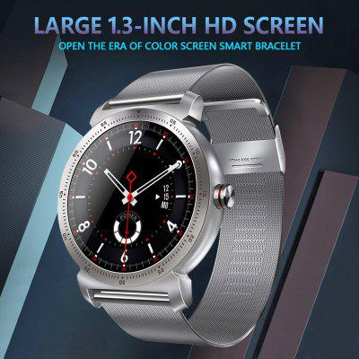 K88H Plus Heart Rate Monitor Pedometer Fitness Tracker Smart Watch -Silver Image