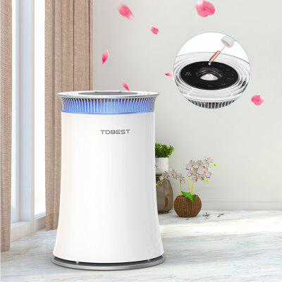 TDBEST Air Purifier Smoke Odor Dust Remove HEPA Filter Air Cleaner -White