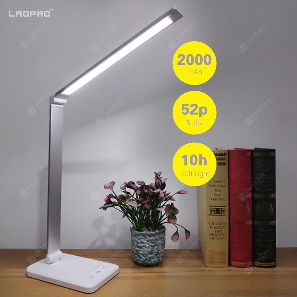 LAOPAO 52PCS LED Desk Lamp 5 Color Modes x5 Levels Touch USB Reading Eye-protect with timer - silver plug in 6-10W Russian Federation - 13.17€