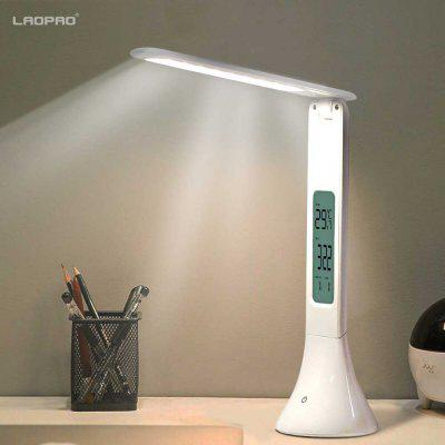 LAOPAO LED Touch Desk Lamp Foldable with Calendar Temperature Alarm Clock table Light