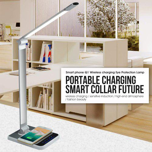 LAOPAO LED Desk Lamp 72 bulb Hand Sweep Wireless Charging Lamp 360 Degree with timer Table lamp