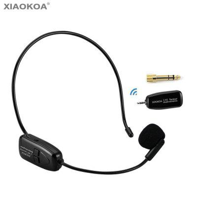 XIAOKOA 2.4G Wireless Lavalier Microphone for Voice Amplifier Camera Recording Microphones