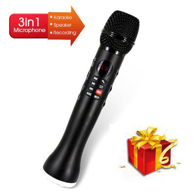 Professional Karaoke Microphone 3 in 1 Recording Wireless Speaker with Bluetooth