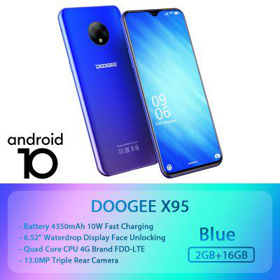 World Premise DOOGEE X95 Android 10 4G-LTE Cellphones 6.52 Display MTK6737 16GB ROM Dual SIM Image