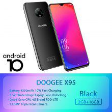 World Premise DOOGEE X95 Android 10 4G-LTE Cellphones 6.52 Display MTK6737 16GB ROM Dual SIM