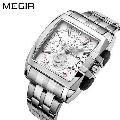 MEGIR 2018 Original Luxury Men Watch Stainless Steel Mens Quartz Wrist Watches