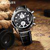 MEGIR 2020 Original Men Quartz Watch Reloj Hombre Leather Business Watches