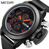 MEGIR 2002  Original Watch Men Sport Quartz Men Watches Chronograph Wrist Watch