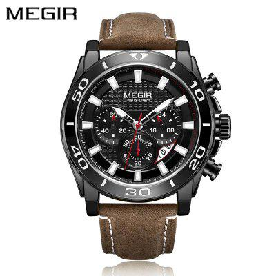 MEGIR 2094 Men Watch  Fashion Sport Quartz Clock Mens Waterproof  Watches