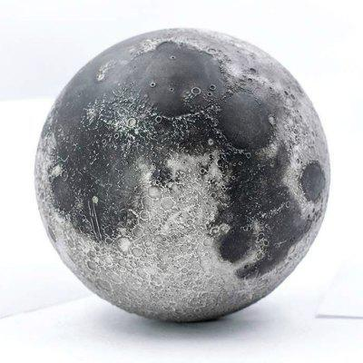 AstroReality LUNAR Pro - Smart Moon Globe - 3D Printed  Hand Painted