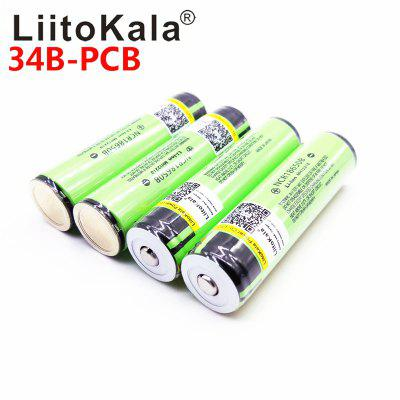 LiitoKala 18650 3400mah NCR18650B 3.7v Lithium Rechargeable Battery with PCB