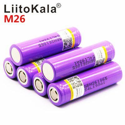 LiitoKala for M26 18650 2600mah 10A li-ion rechargeable battery power safe battery scooter