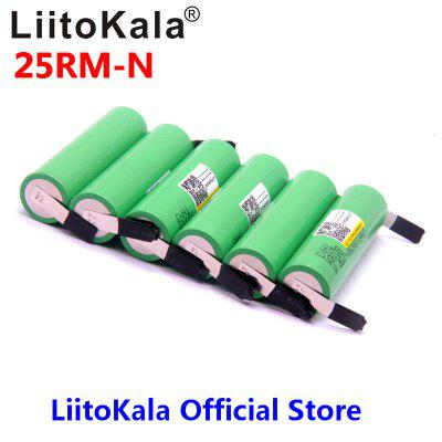 LiitoKala 18650 2500mAh Rechargeable battery 3.6V INR18650 25R M 20A discharge DIY Nickel