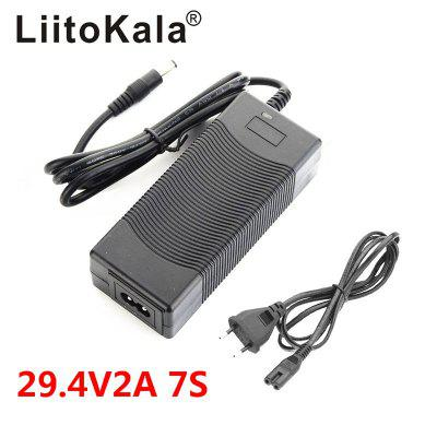 LiitoKala 7S 29.4V 2A electric bike lithium battery charger 24V 2A lithium battery pack