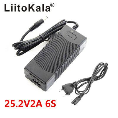 LiitoKala 6S 25.2V 2A 24V Battery pack Power Supply lithium Li-ion batterites Charger